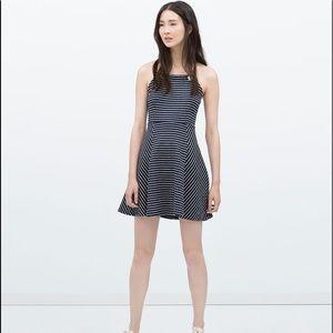 Zara Trafaluc Striped Nautical Halter Dress Small
